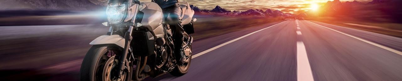 Motorrad-Rad-Sonnenuntergang