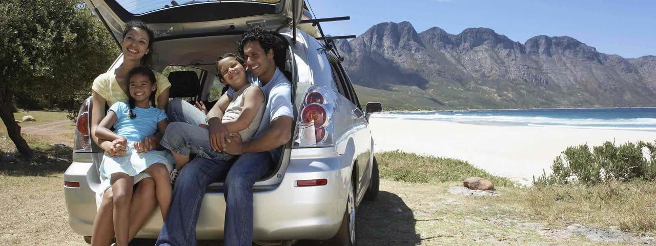 familie minivan beach
