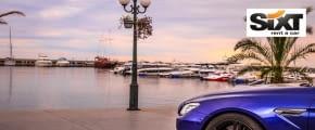 sixt luxuswagen blau meer fotolia 168502778