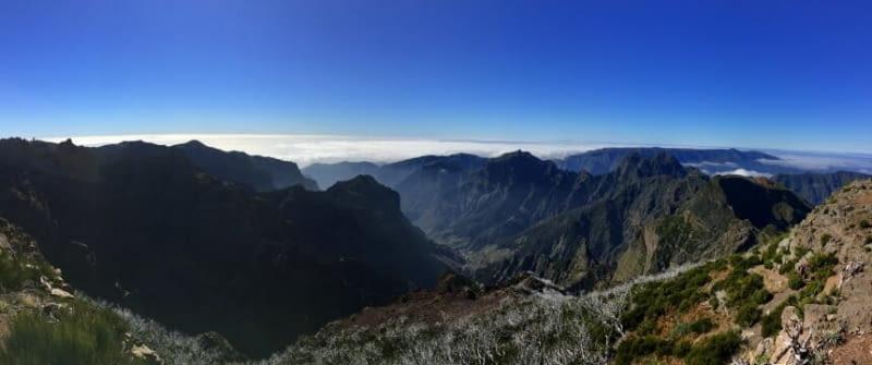 madeira portugal pico arieiro pico ruivo berge wandern